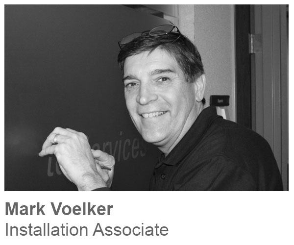 Mark Voelker, Installation Associate