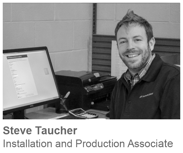Steve Taucher, Installation and Production Associate