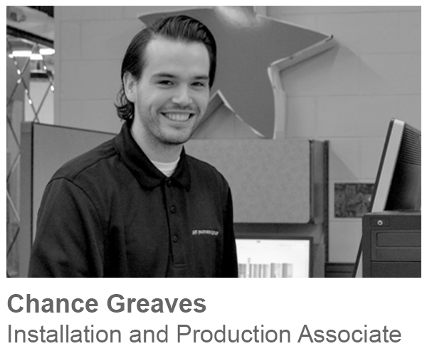 Chance Greaves, Installation and Production Associate