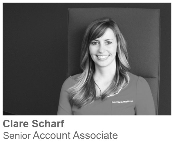 Clare Scharf, Senior Account Associate