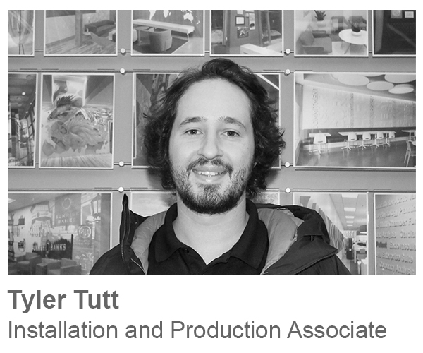 Tyler Tutt, Installation and Production Associate