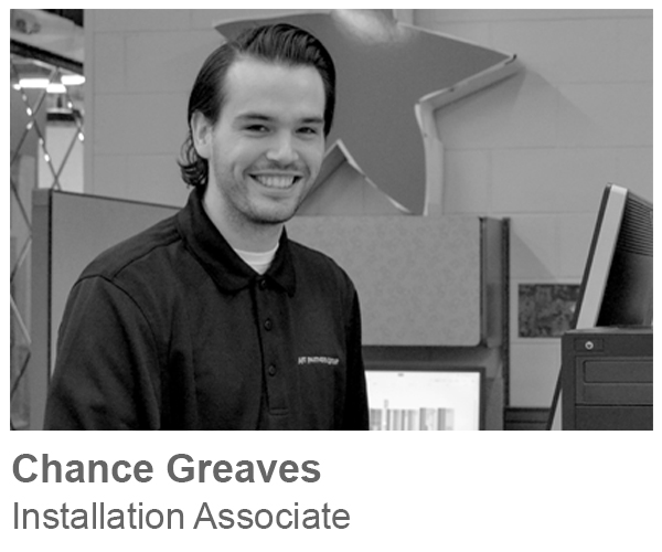 Chance Greaves, Installation Associate