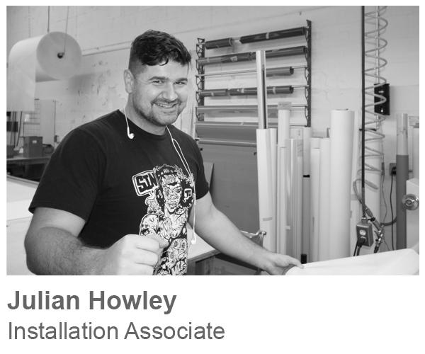 Julian Howley, Installation Associate