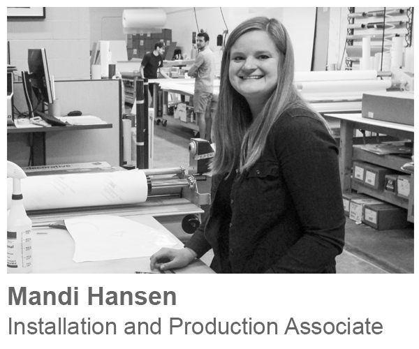 Mandi Hansen, Installation and Production Associate