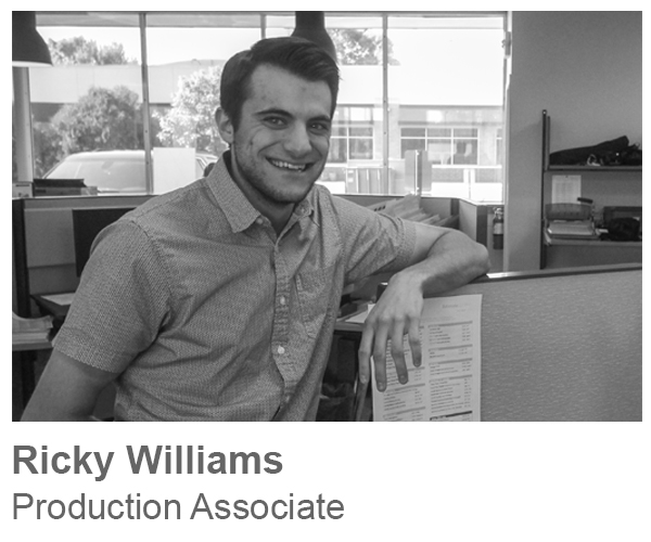 Ricky Williams, Production Associate