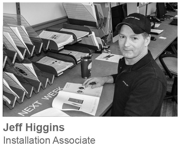 Jeff Higgins, Installation Associate